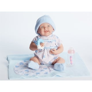 JC Toys Cuddly Doll with Gift Set in Blue