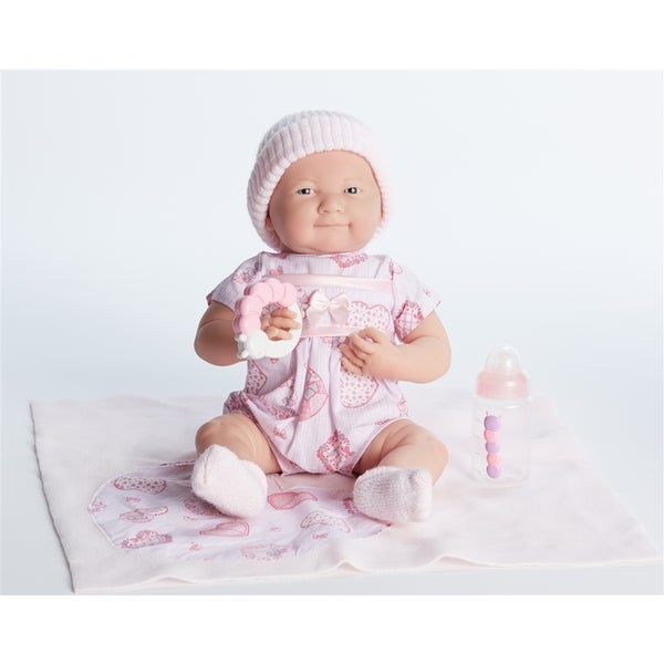 Cuddly Pink Doll with Gift Set