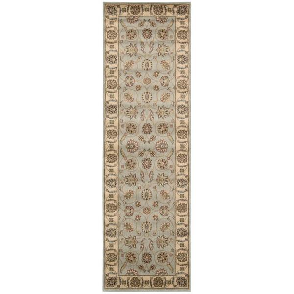 Nourison Mondrian Light Blue Runner Rug (2'3 x 7'6)
