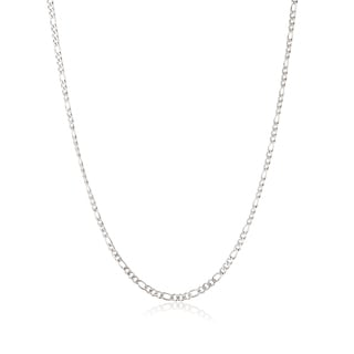 Men's Stainless Steel 24 Inch Figaro Chain Necklace (3 mm)