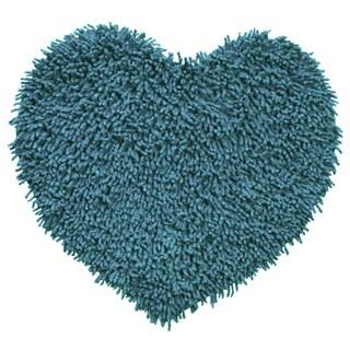 "Blue Shagadelic Chenille Twist (20""x24"") Shag Heart"