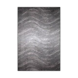 nuLOOM Contermporary Ombre Waves Grey Rug (4' x 6')