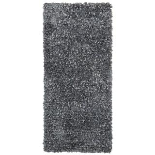 Grey Blue Shimmer Shag (2'x5') Runner