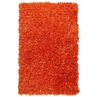 "Orange Shimmer Shag (21""x34"") Rug - 1'9"" x 2'10"""