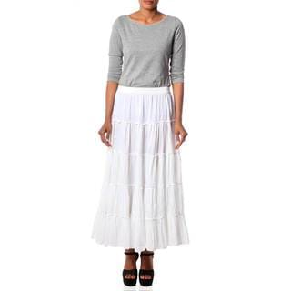 Cotton 'Frilly White' Skirt (India)
