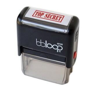 Rectangular Red 'Top Secret' Self-inking Stamp