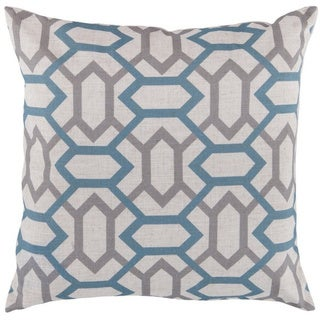 Decorative St.Mawes 22-inch Trellis Poly or Down Filled Pillow