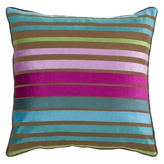 Decorative Stafford 18-inch Stripe Poly or Down Filled Pillow