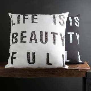 Decorative Somerset 18-inch Print Poly or Down Filled Pillow