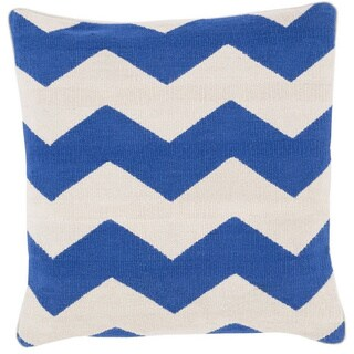 Decorative Rochdale 22-inch Chevron Poly or Down Filled Pillow