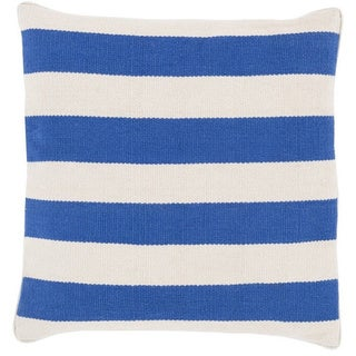 Decorative Redditch 22-inch Stripe Poly or Down Filled Pillow