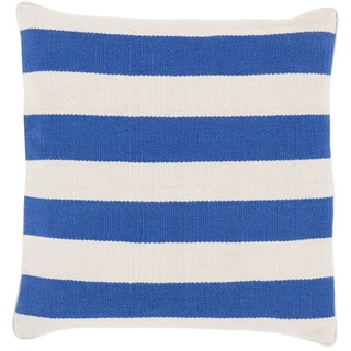 Decorative Redditch 18-inch Stripe Poly or Down Filled Pillow