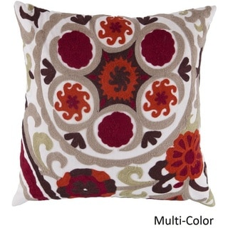 Decorative Sidmouth 18-inch Embroidered Pillow Cover