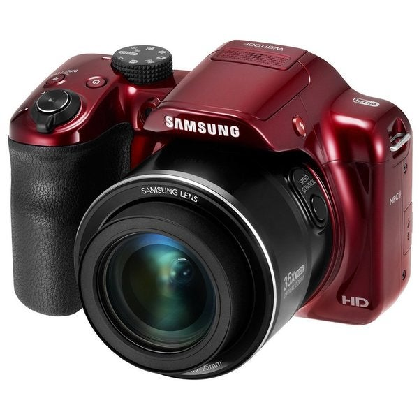 Samsung WB1100F Red 16.2MP 35x Optical Zoom Digital Camera (Refurbished)