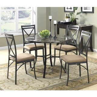 Dorel Living 5-Piece Faux Marble Top Dining Set