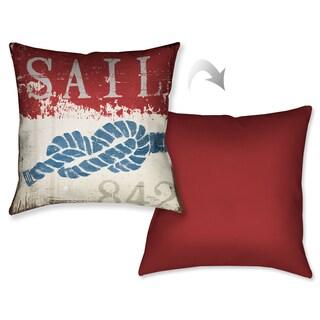 Laural Home Nautical Sail Decorative 18-inch Throw Pillow