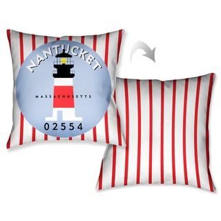 Laural Home Nantucket Beach I Decorative 18-inch Throw Pillow