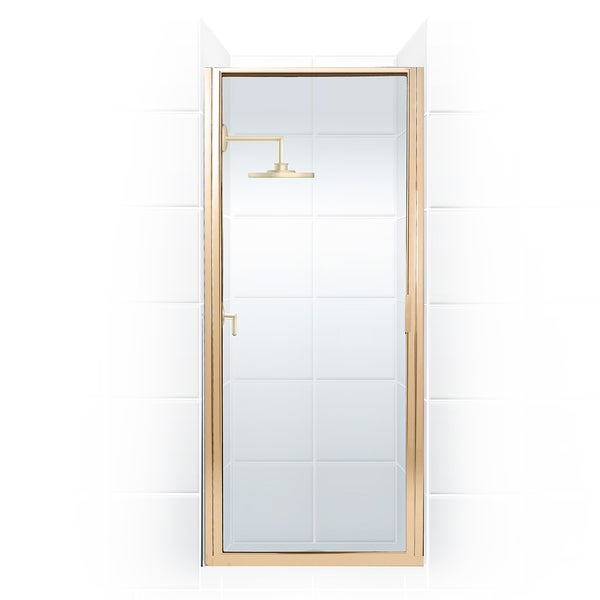 Paragon Series 34 in. x 74 in. Framed Continuous Hinge Shower Door
