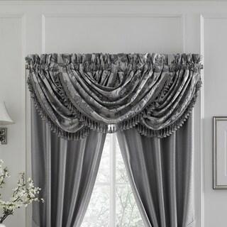 Croscill Everly Ivory and Platinum Window Valance