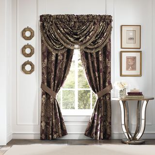 Croscill Home Everly Plum and Gold Pole Top Drapery