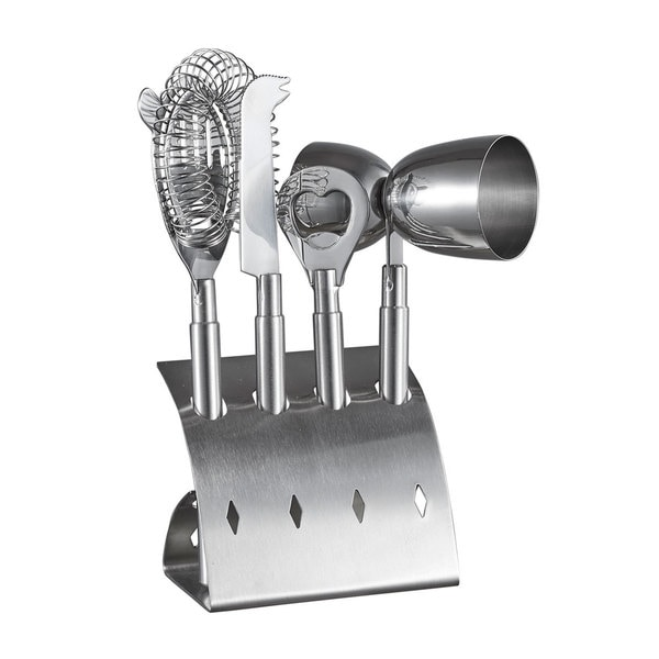 Visol Bar Pro Stainless Steel 4 Piece Bar Set