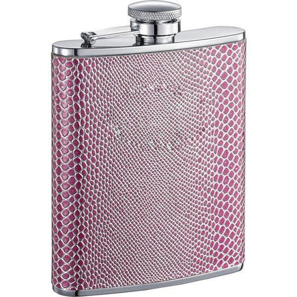 Visol Viper X Pink Snake Pattern Liquor Flask - 6 ounces