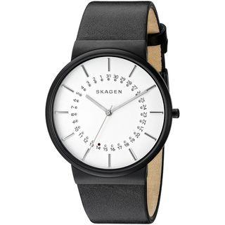 Skagen Men's SKW6243 'Ancher' Black Leather Watch