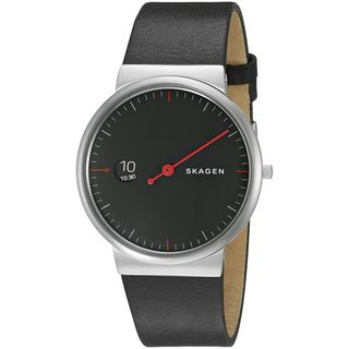 Skagen Men's SKW6236 'Ancher' Black Leather Watch
