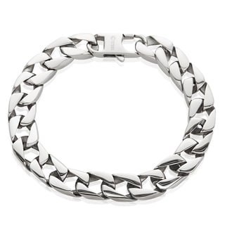 Crucible Stainless Steel Cuban Chain Bracelet - 8.5 inches (11 mm)