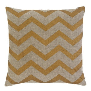 Signature Design by Ashley Chevron Gold 20-inch Pillow Cover