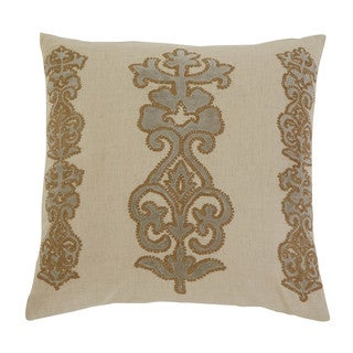 Signature Design by Ashley Applique Natural 18-inch Pillow Cover