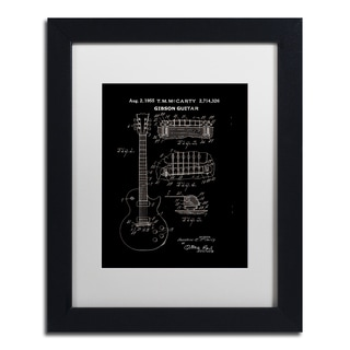 Claire Doherty '1955 Mccarty Gibson Guitar Patent Black' White Matte, Black Framed Wall Art