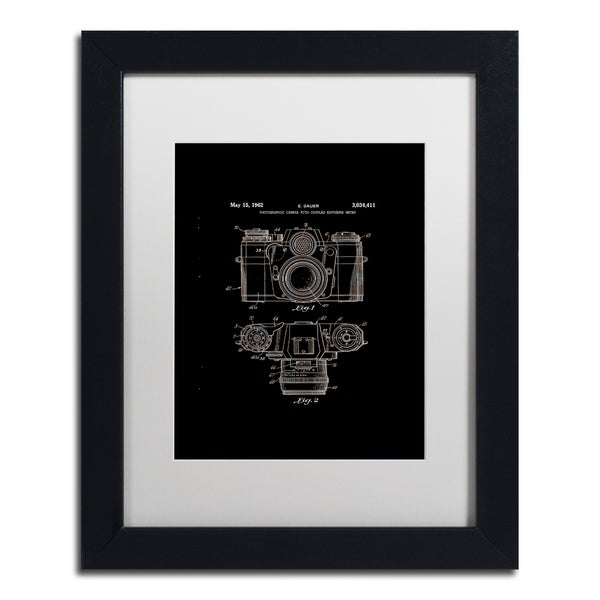 Claire Doherty 'Photographic Camera Patent 1962 Black' White Matte, Black Framed Wall Art