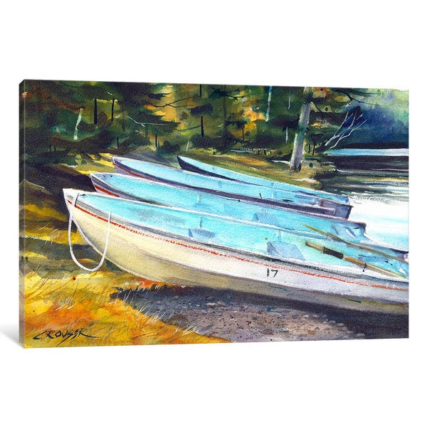 iCanvas Boats On The Shore by Dean Crouser Canvas Print