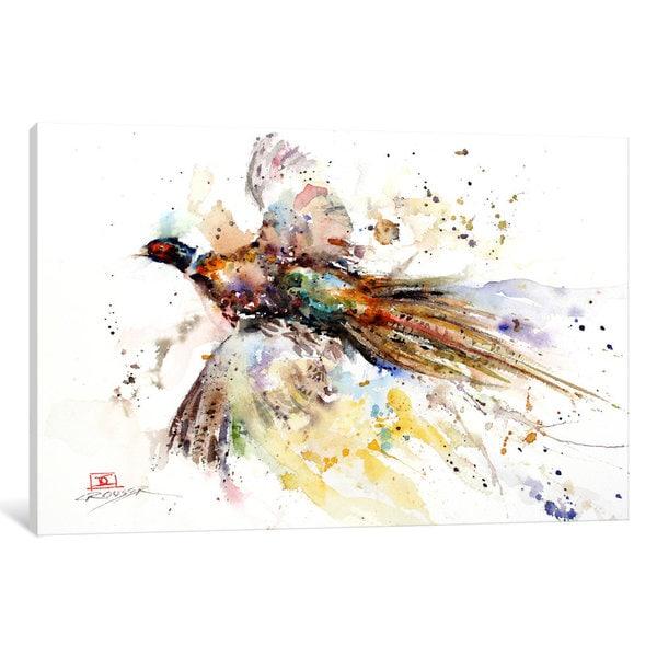 iCanvas Colorful Pheasant by Dean Crouser Canvas Print