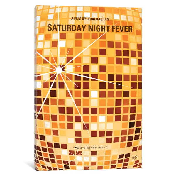 iCanvas Saturdaynightfever Minimal Movie Poster by Chungkong Canvas Print