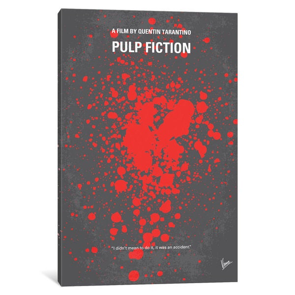iCanvas Pulp Fiction Minimal Movie Poster by Chungkong Canvas Print