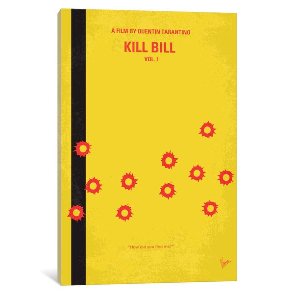 iCanvas Kill Bill -part 1 Minimal Movie Poster by Chungkong Canvas Print