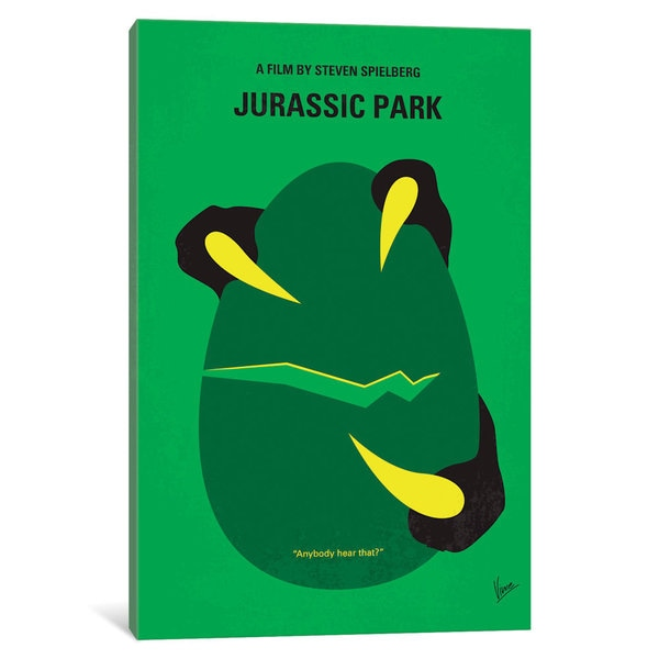 iCanvas Jurassic Park Minimal Movie Poster by Chungkong Canvas Print