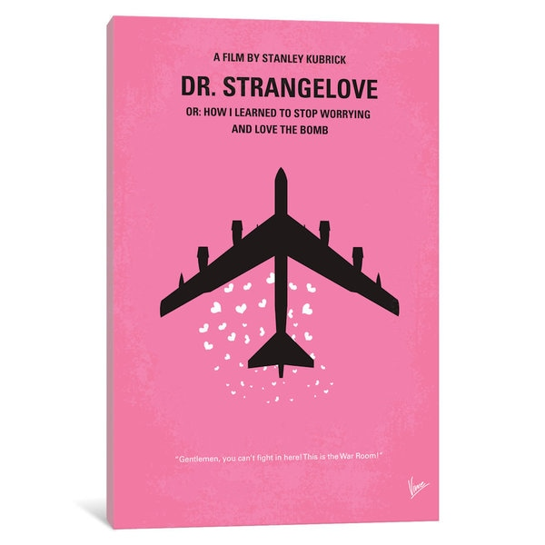 iCanvas Dr Strangelove Minimal Movie Poster by Chungkong Canvas Print