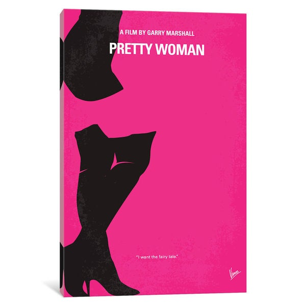 iCanvas Pretty Woman Minimal Movie Poster by Chungkong Canvas Print
