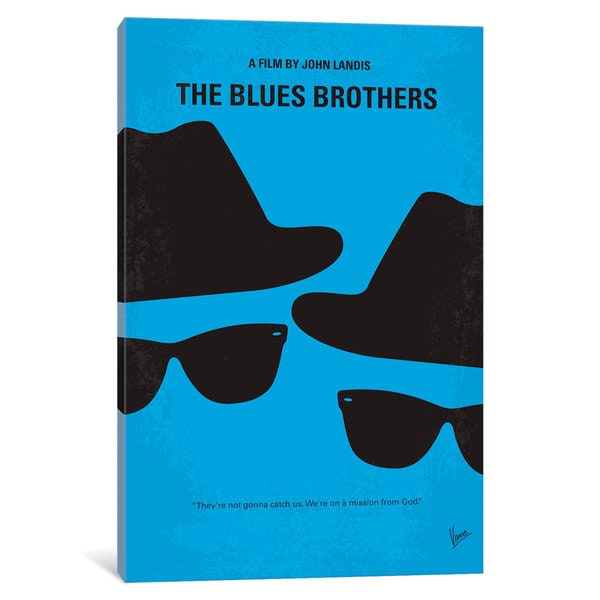 iCanvas Blues Brothers Minimal Movie Poster by Chungkong Canvas Print