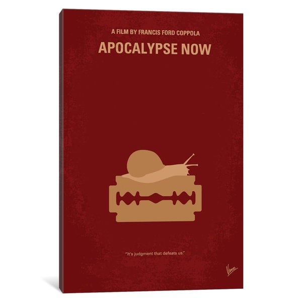 iCanvas Apocalypse Now Minimal Movie Poster by Chungkong Canvas Print