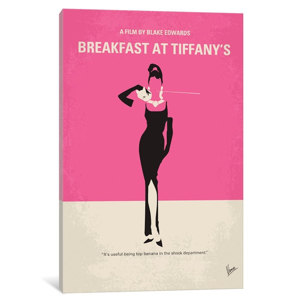 iCanvas Breakfast At Tiffanys Minimal Movie Poster by Chungkong Canvas Print