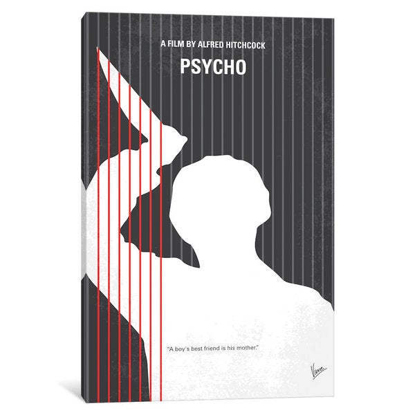 iCanvas Psycho Minimal Movie Poster by Chungkong Canvas Print