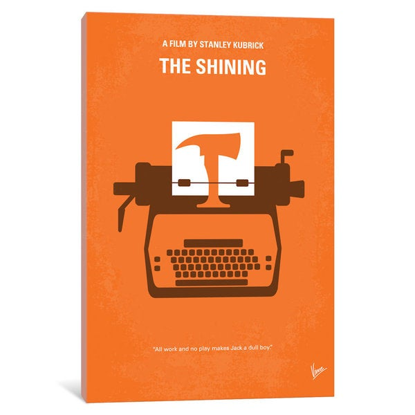 iCanvas The Shining Minimal Movie Poster by Chungkong Canvas Print