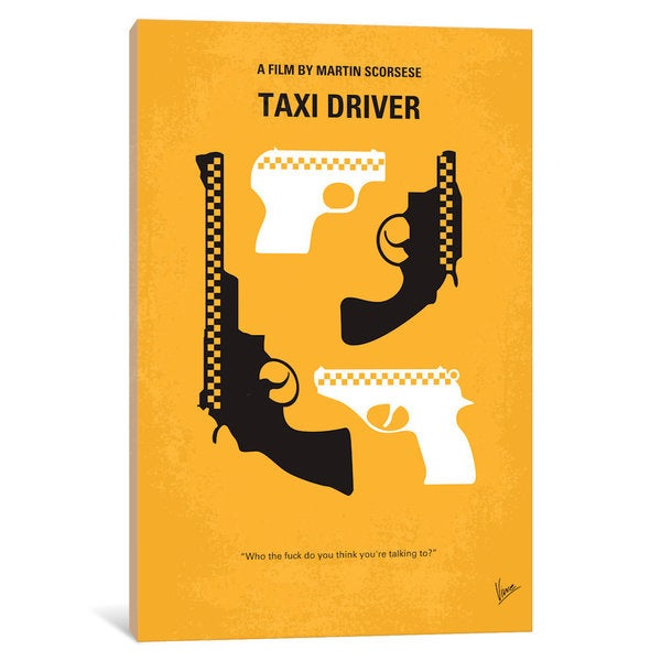 iCanvas Taxi Driver Minimal Movie Poster by Chungkong Canvas Print