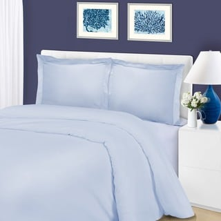 1200 Thread Count Cotton Blend Solid Duvet Cover Set