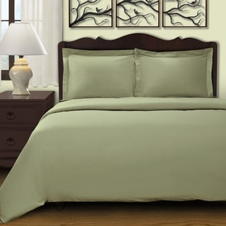 300 Thread Count Egyptian Cotton Solid 3-piece Duvet Cover Set