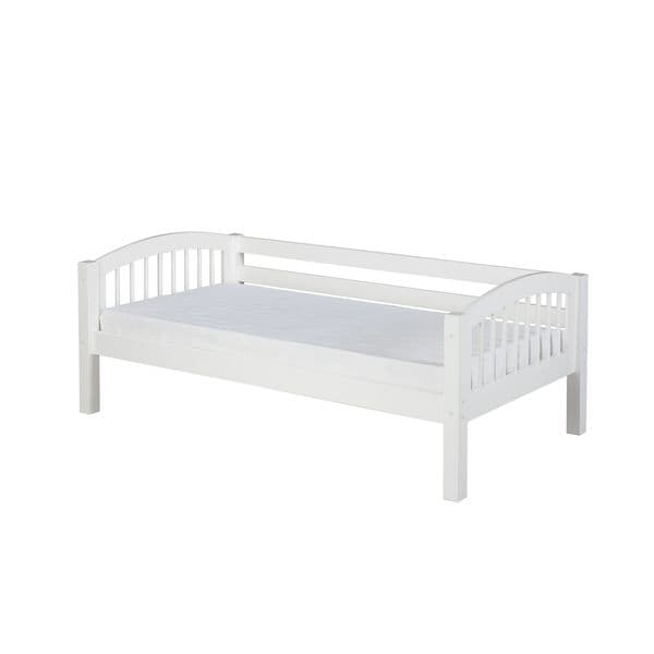 Camaflexi Twin-size White Finish Day Bed with Arch Spindle Headboard